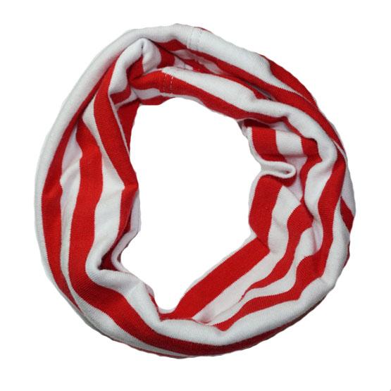Bandana til hund - rød/hvide striber