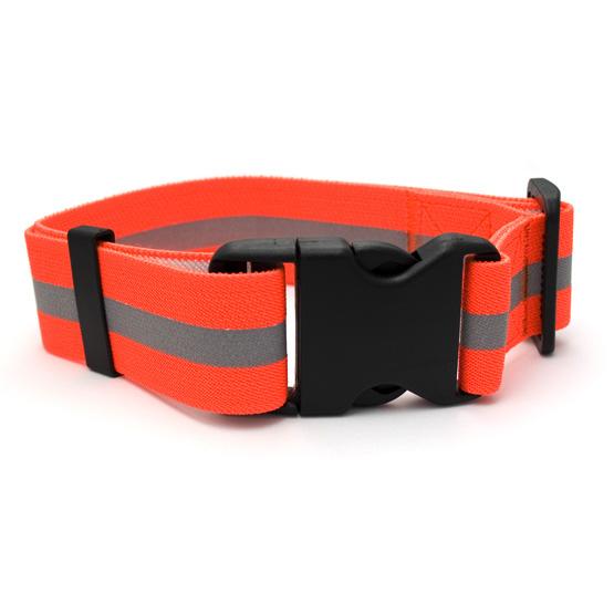Billede af Orange sikkerheds hundehalsbånd m.kliklås