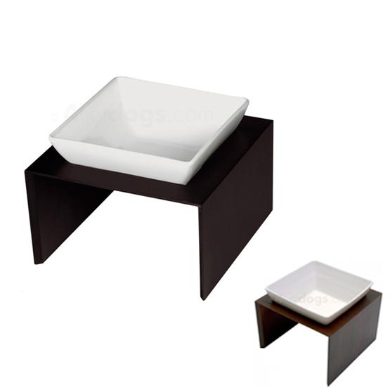 Foder/vandskål i elegant holder