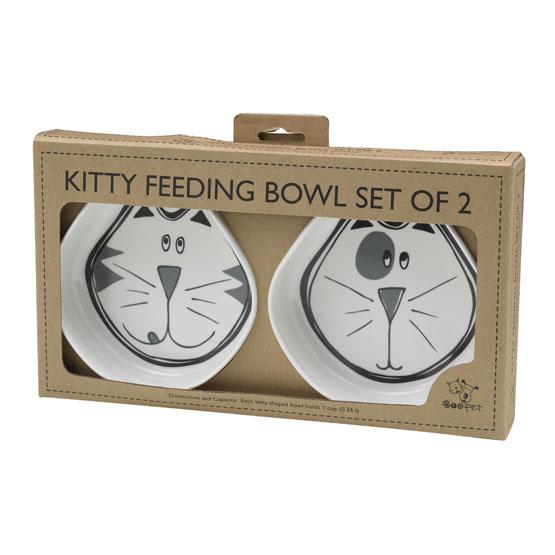 Billede af Melamin madskåle sæt til katte
