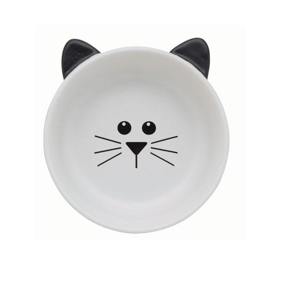 Billede af Katte madskål, med katte hoved