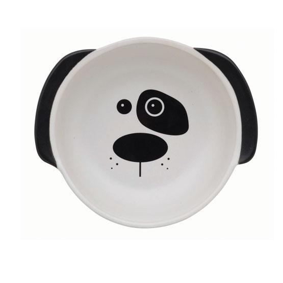 Image of Hunde madskål, med hunde hoved