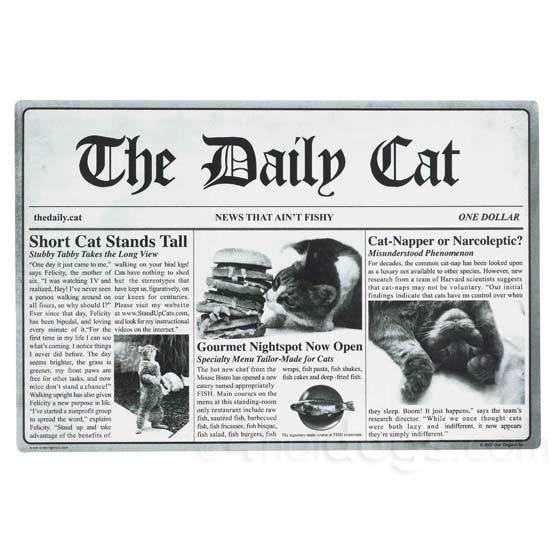 Billede af The Daily Cat skåleunderlag