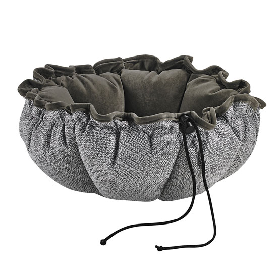 Bowsers Buttercup hundeseng/pude i én - Lysgrå/grå