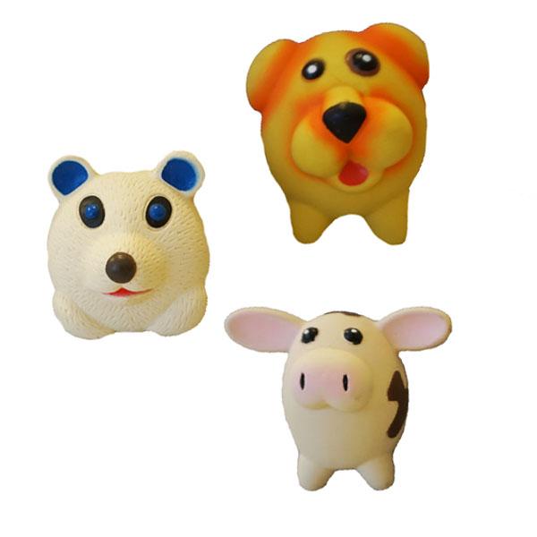 Billede af Festlige små latex figurer til hunden