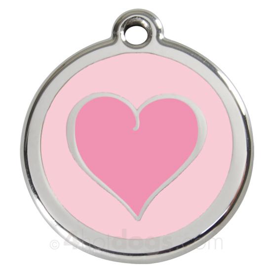 Billede af Kattetegn med pink hjerte