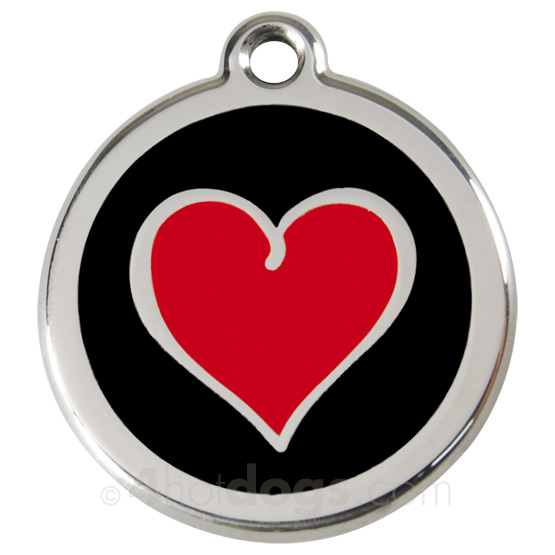 Image of Kattetegn med rødt hjerte