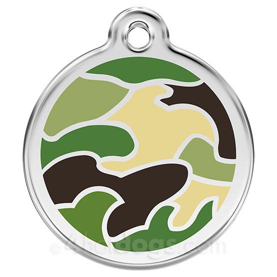 Image of   Hundetegn Camouflage small grøn
