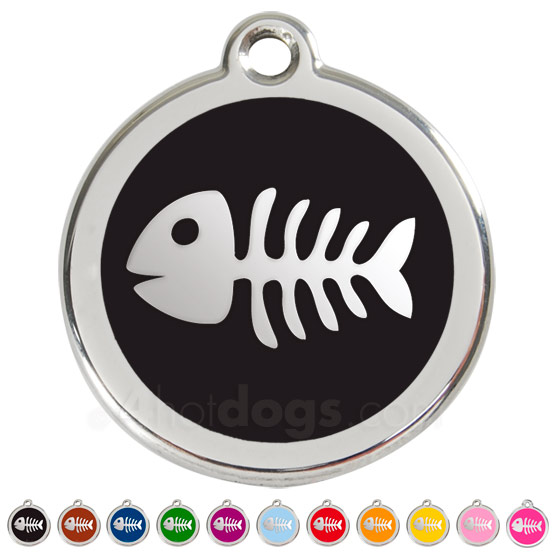 Image of Kattetegn med fiskeben