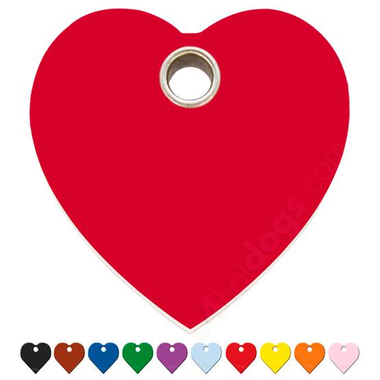 Billede af Hundetegn Hjerte large 10 forskellige farver
