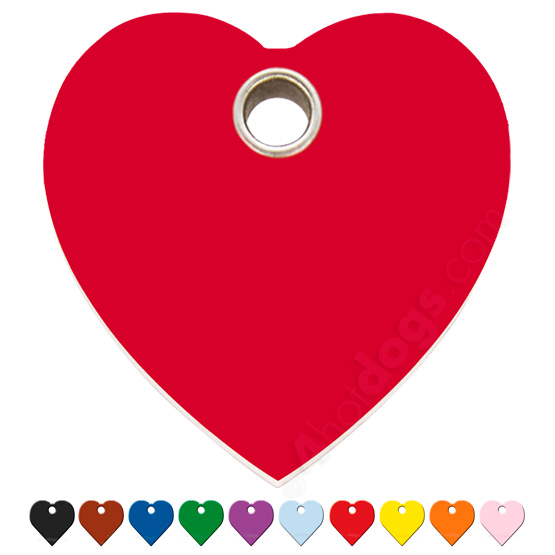 Image of   Hundetegn Hjerte small 10 forskellige farver