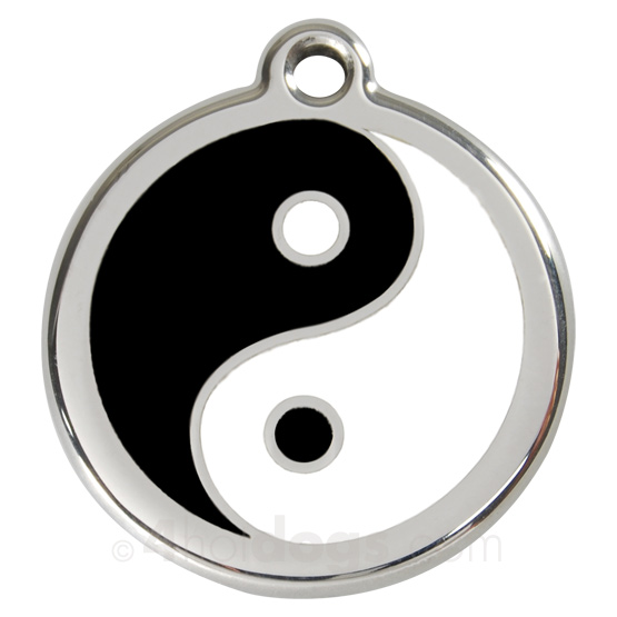Image of   Hundetegn Yin Yang medium