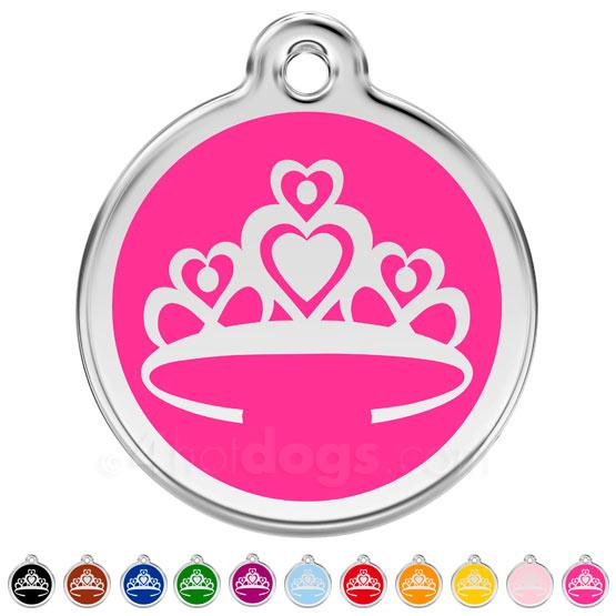 Image of   Hundetegn Prinsessekrone medium 11 forskellige farver