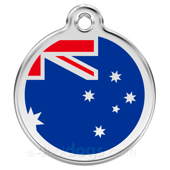 Image of   Hundetegn Australske flag Large