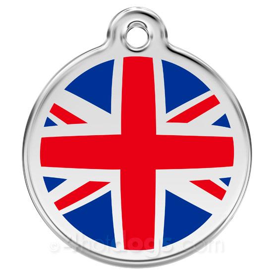 Image of Kattetegn med UK flag
