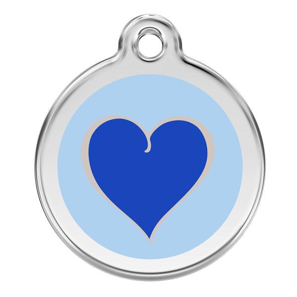 Image of Kattetegn med blåt hjerte