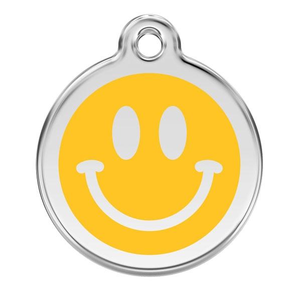 Image of Kattetegn med glad Smiley - gul