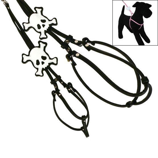 Billede af PIRAT step-in læder hundesele