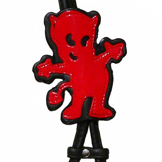 Billede af Step-in læder hundesele rød og sort
