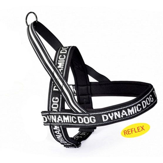 Dynamic polsteret hundesele, sort