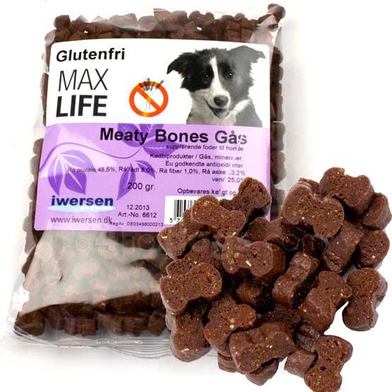 Image of Hundegodbidder, Max Life Meaty Bites godbidder, GÅS 200g