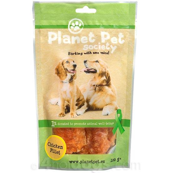 Image of Hundegodbidder, Planet Pet MeatyTreats ChickenFillet100g