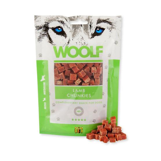 Image of   Hundegodbid Woolf Lamb chunkies 100g
