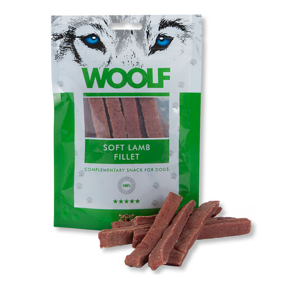 Image of   Hundegodbid Woolf blød lammesnack, 100g