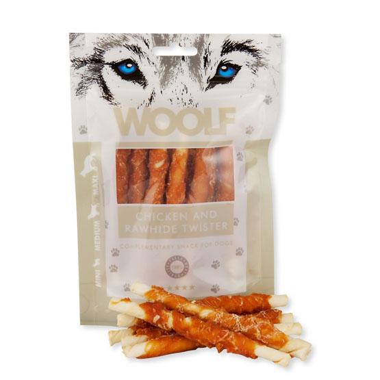 Image of   Hundegodbid Woolf tyggesnack med kylling, 100g