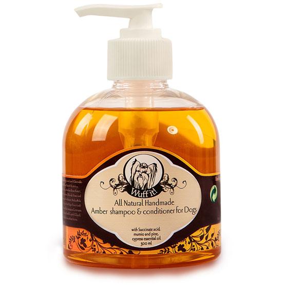Billede af Hundeshampoo 2i1 naturlig rav shampoo