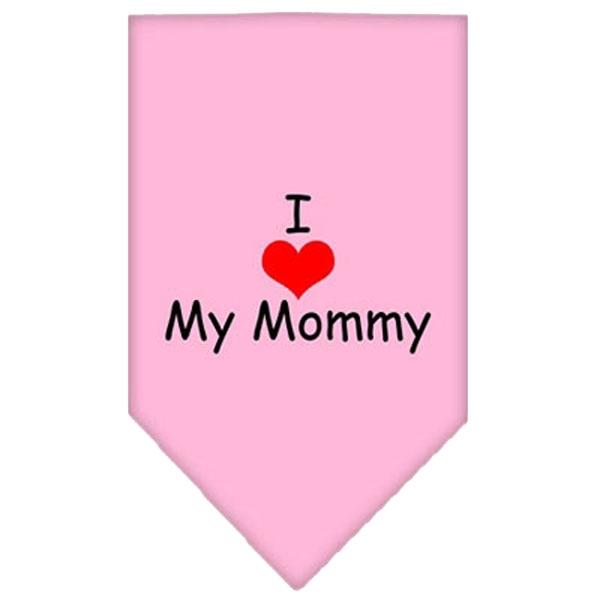 Bandana - I LOVE MY MOMMY - Lyserød-L