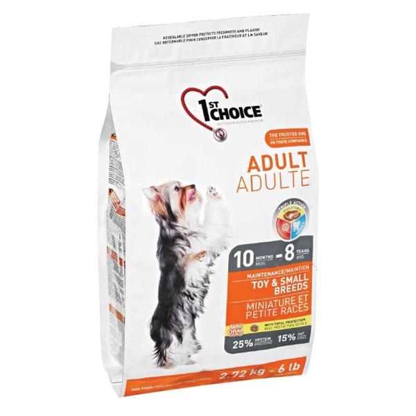 Billede af 1st Choice Voksen hundefoder Toy/Small, 2,72 kg