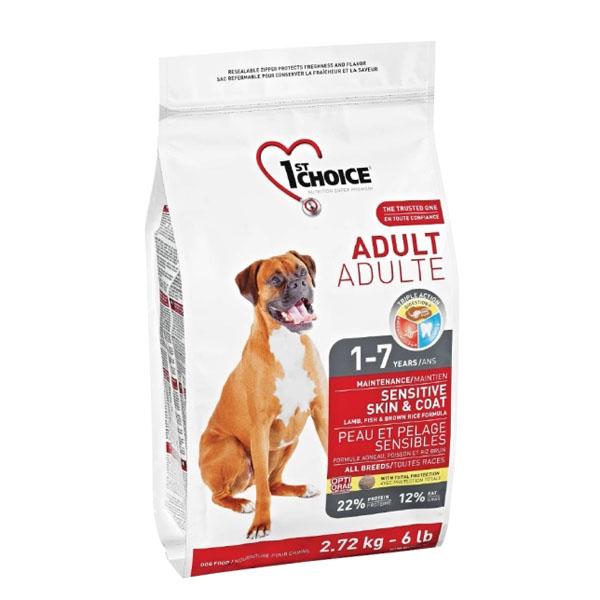 Billede af 1st Choice Voksen hundefoder Lam & Brune Ris, 2,72 kg.