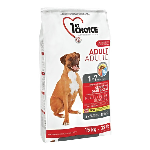 Billede af 1st Choice Voksen hundefoder Lam & Brune Ris, 15 kg