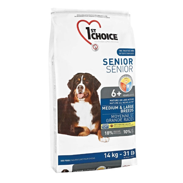 Image of   st Choice Senior hundefoder Medium/Large, 14 kg.