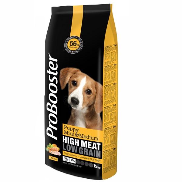 Probooster hvalpe foder, mini/medium, 15kg