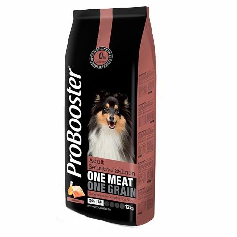 Probooster voksen foder, sensitiv med laks, 2kg
