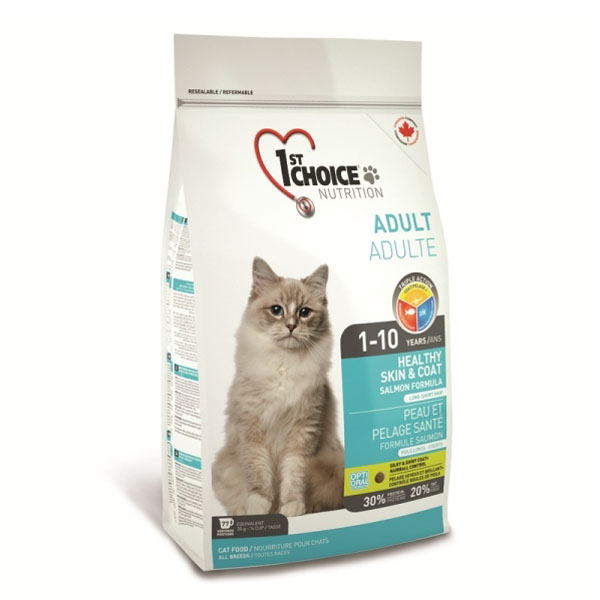 1Choice Healthy Skin & Coat kattefoder 5,44kg