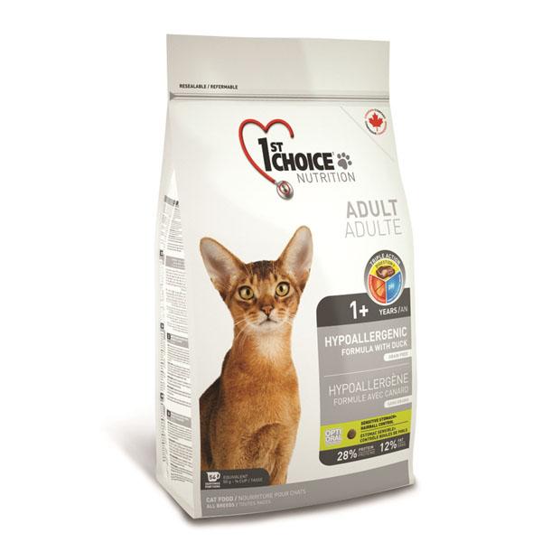 Billede af 1st Choice Hypoallergenic Kattefoder, 5,44 kg.