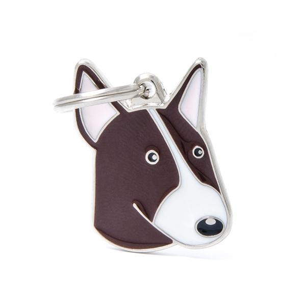 Brun Bull Terrier hundetegn