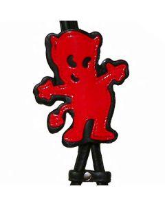 Step-in læder hundesele rød og sort