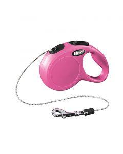 Flexi New Classic Pink - Snor 3 ell 5 m