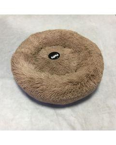 Fluffy hundeseng brun