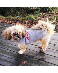 Grå hundesweater forever love