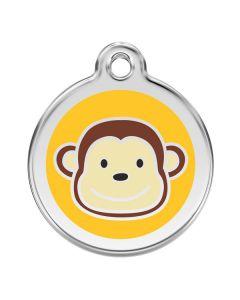 Sjovt hundetegn med en abe