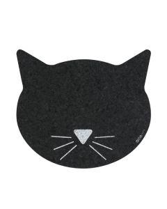 Kattehoved formet Skåle underlag i gummi