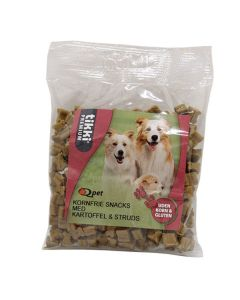 Hunde godbidder - UDEN KORN med Struds, 150g