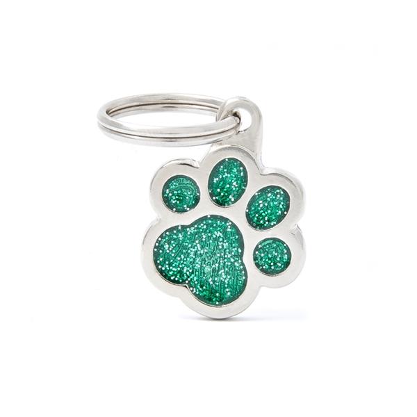 Grøn pote Shine hundetegn