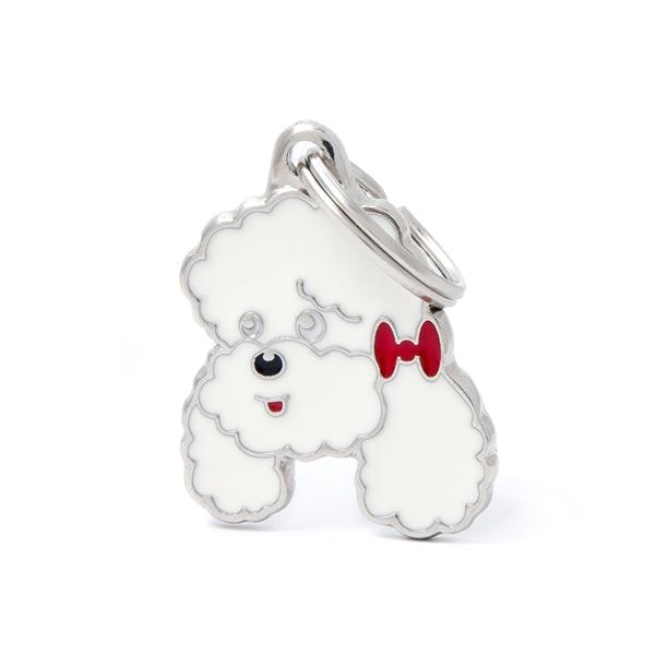Billede af Hvid Puddel hundetegn