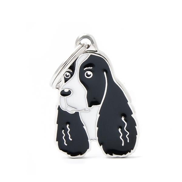 Billede af Hvid & sort Springer Spaniel hundetegn